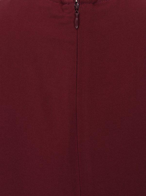 Vínové šaty s nazberkaním na boku VERO MODA Nice