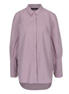 Svetlofialová košeľa s dlhým skladaným rukávom VERO MODA Thea
