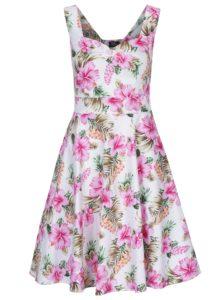 Ružovo-biele kvetované šaty Dolly & Dotty Natalie
