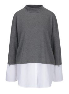 Sivá tunika so všitou košeľou Noisy May Saga