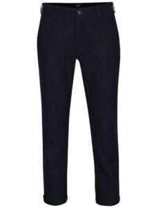 Tmavomodré dámske rifľové slim chino nohavice Lee