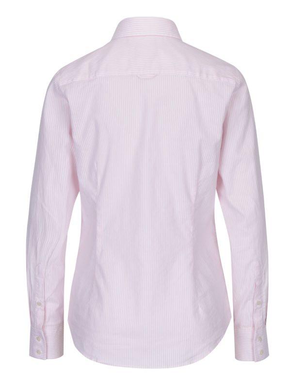 00185034a830 Bielo-ružová dámska pruhovaná košeľa GANT