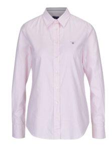 Bielo-ružová dámska pruhovaná košeľa GANT
