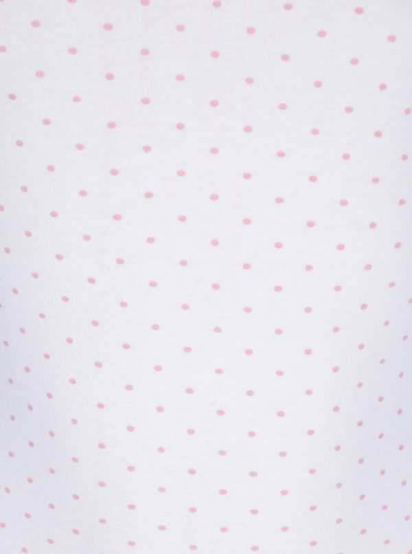 Biela bodkovaná dievčenská košieľka 5.10.15
