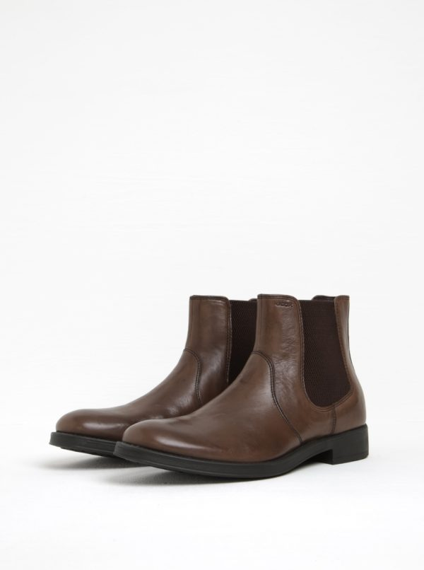 Hnedé pánske kožené chelsea topánky Geox Blaxe B