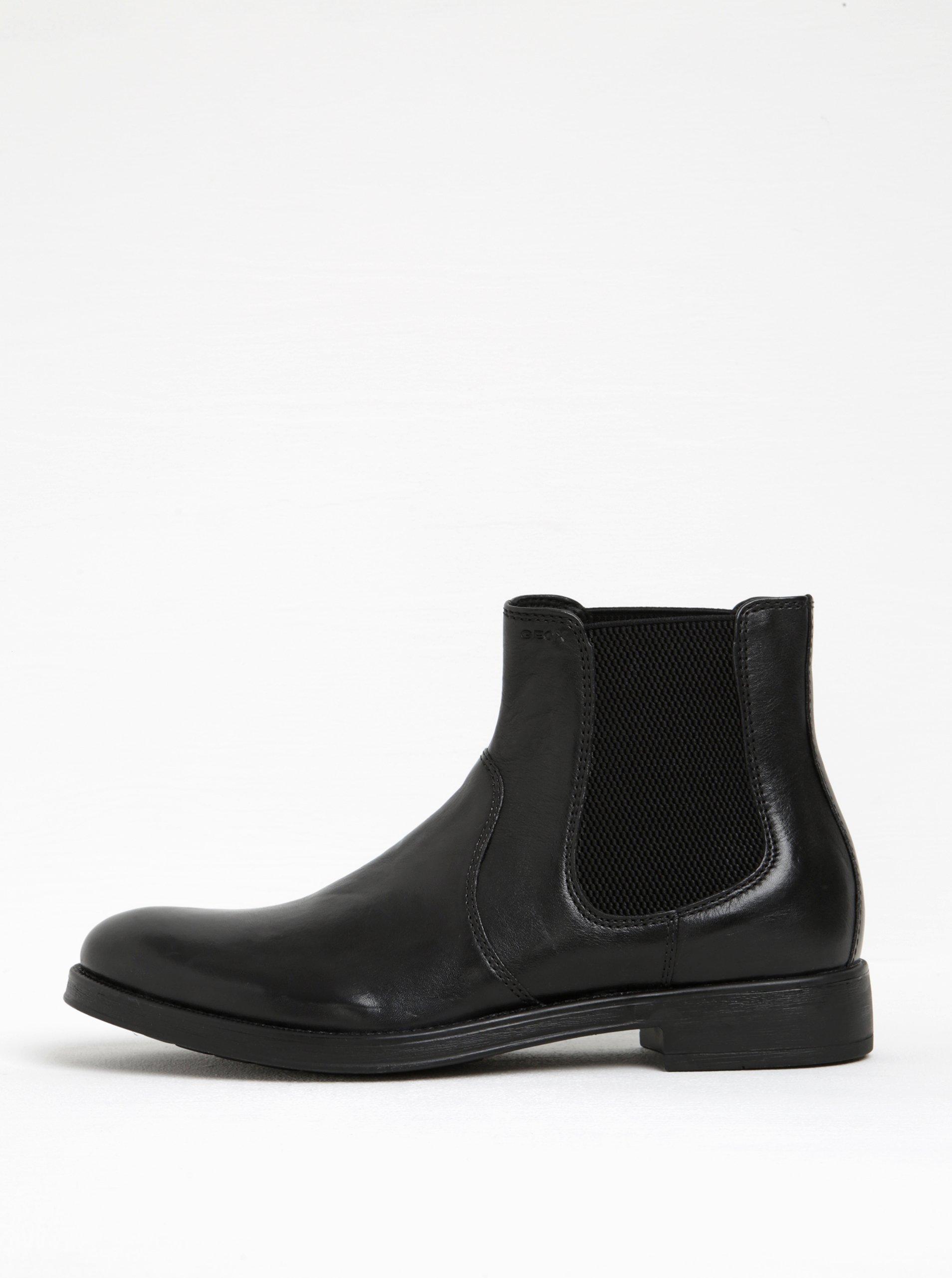 757760c8af Čierne pánske kožené chelsea topánky Geox Blaxe B