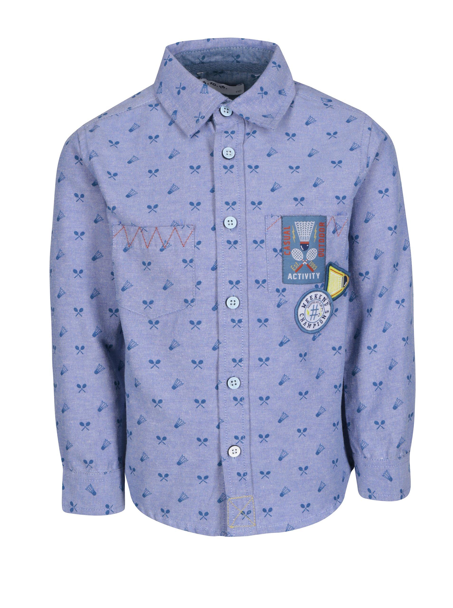 7c06e2c419 Svetlomodrá vzorovaná chlapčenská košeľa 5.10.15.