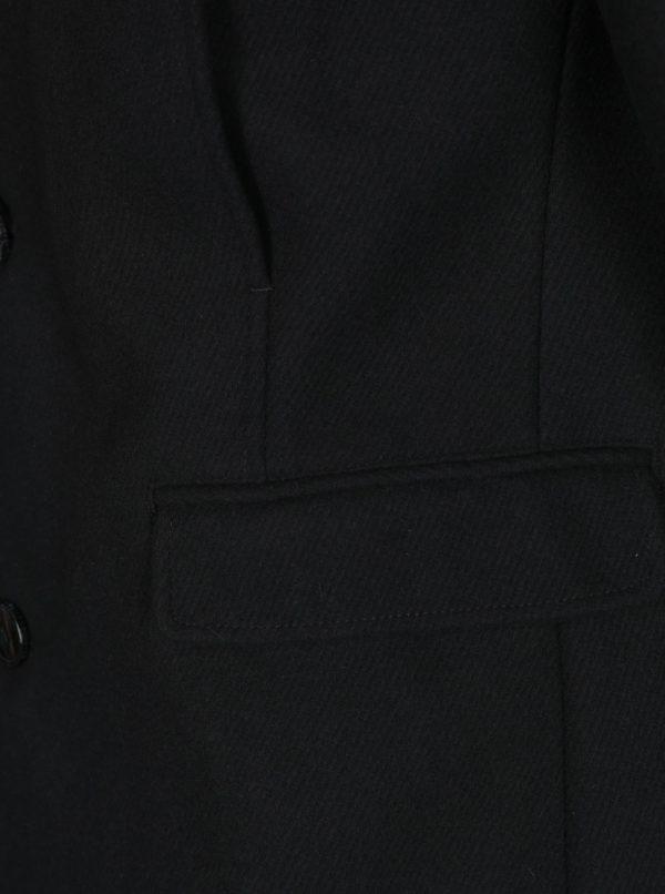 Čierny kabát s prímesou vlny Selected Homme Mosto