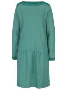 Zelené melírovaná mikinové šaty s vreckami Tranquillo Fran