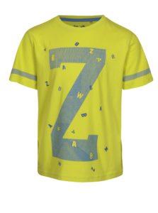 Svetlozelené chlapčenské tričko s potlačou 5.10.15.