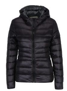 Čierna prešívaná bunda s kapucňou Haily's Dora