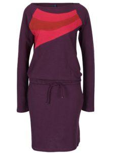 Tmavofialové šaty s vreckami Tranquillo Philina