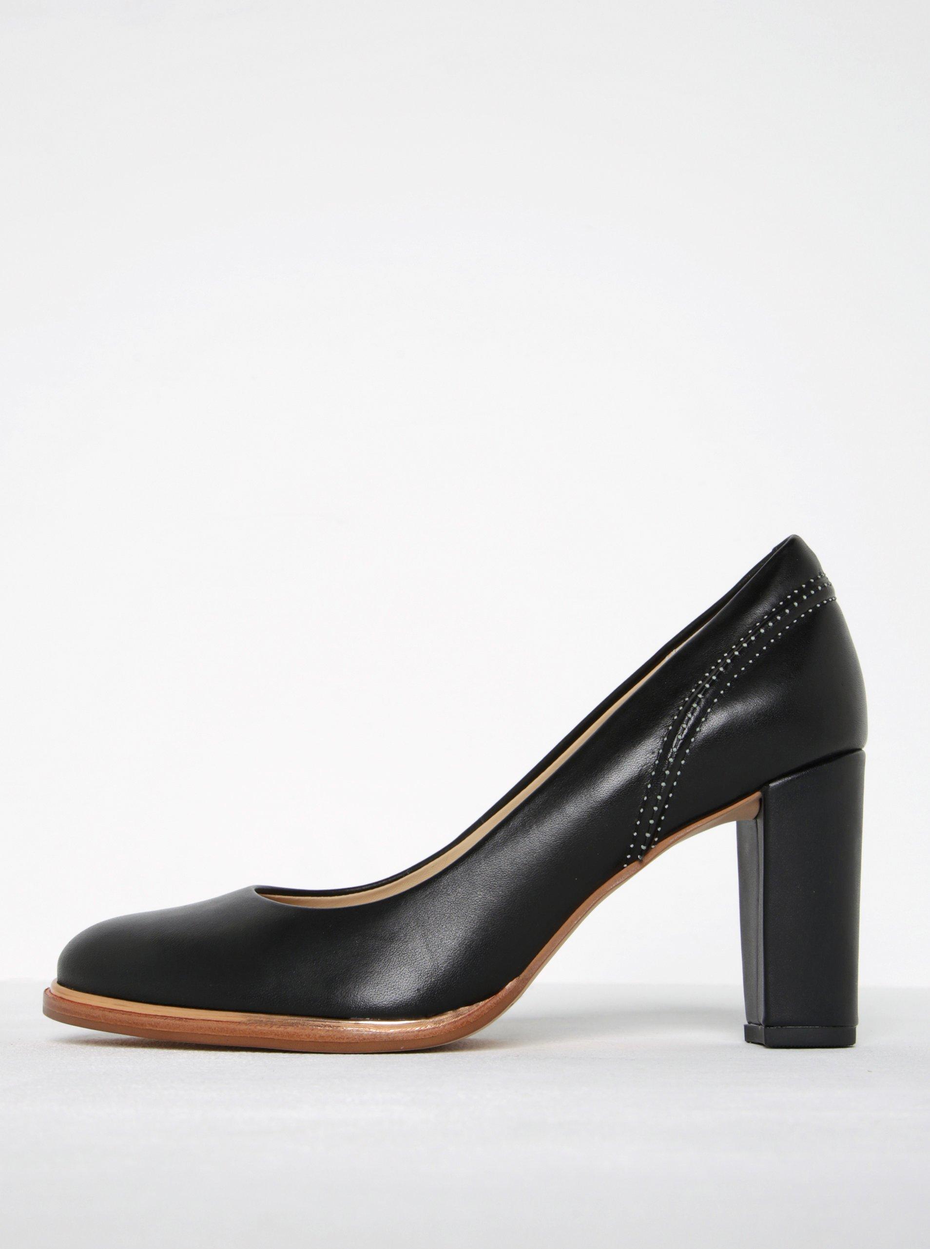 Čierne dámske kožené lodičky Clarks Ellis Edith  6ef95844c0f