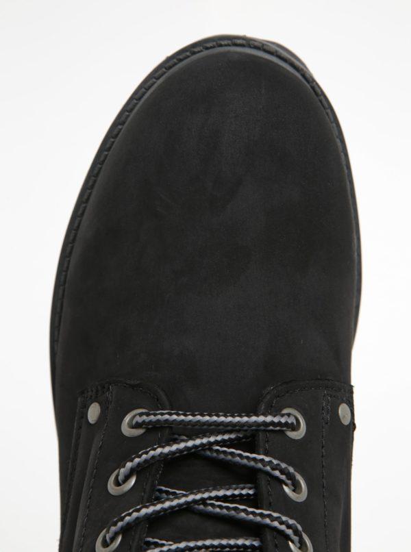 Čierne členkové topánky Jack & Jones Stoke