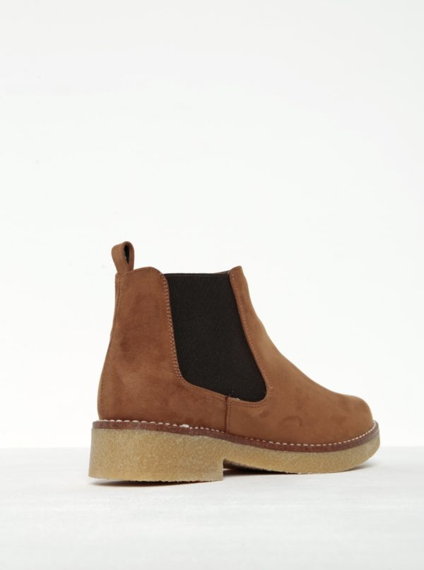 Hnedé členkové topánky v semišovej úprave OJJU
