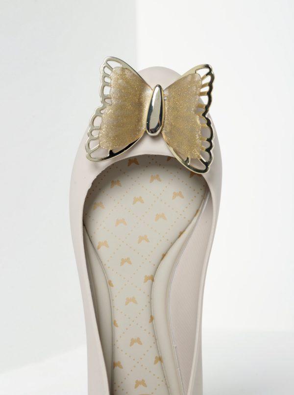 Krémové baleríny s motýľom Zaxy Butterfly