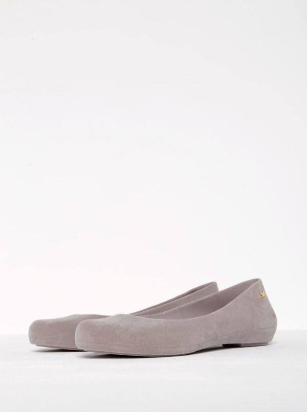 Béžové baleríny v semišovej úprave Zaxy Pop Flocked