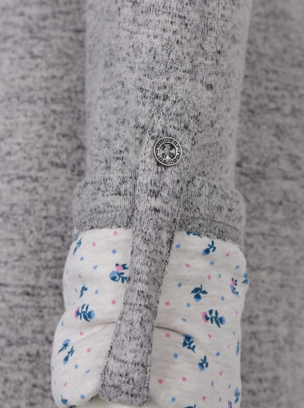 Sivé svetrové melírované šaty s dlhým rukávom Ragwear Provence