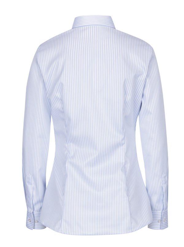 587e9dbff7 Svetlomodrá dámska pruhovaná košeľa VAVI