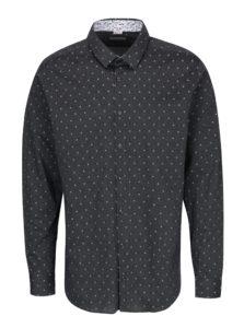 Sivá pánska bodkovaná košeľa VAVI