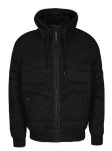 Čierna pánska vodovzdorná prešívaná bunda s kapucňou Ragwear Dockie
