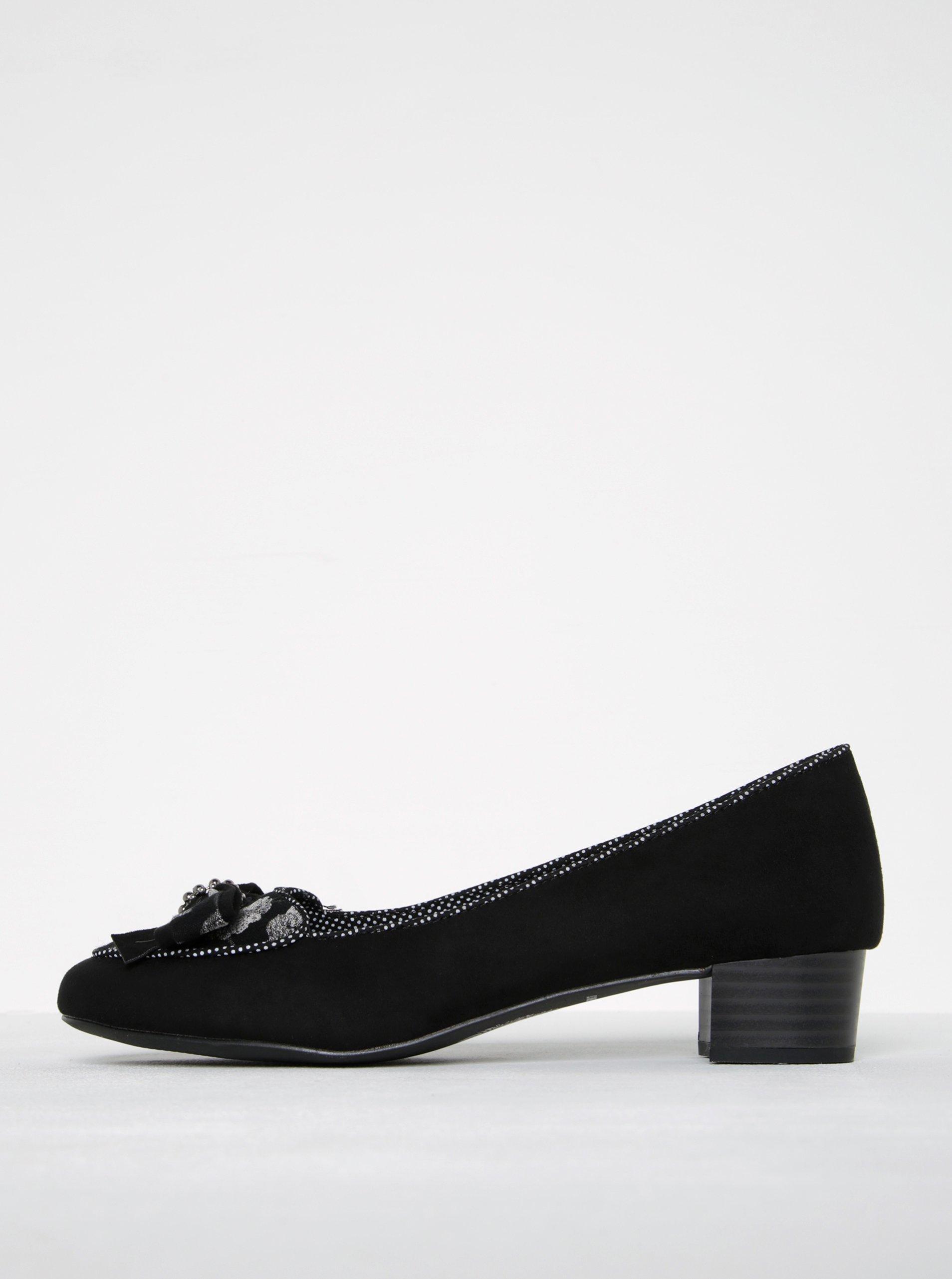 5645a99364ef7 Čierne lodičky v semišovej úprave s mašľou Ruby Shoo Victoria | Moda.sk