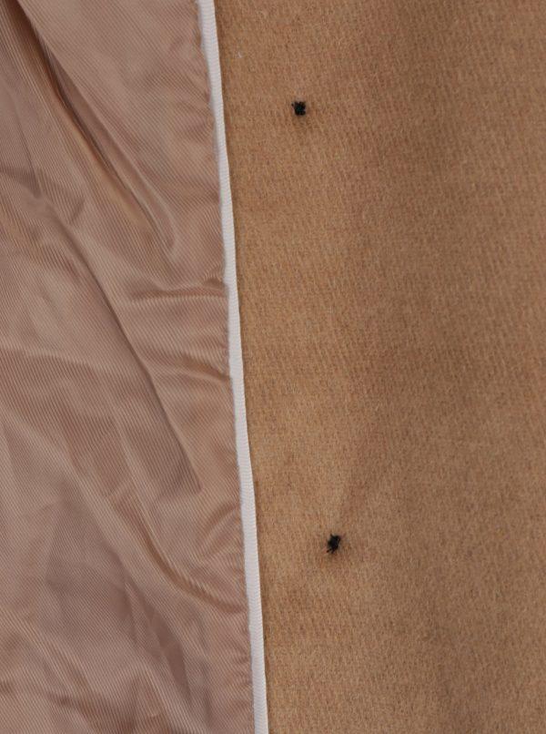 Svetlohnedý kabát s prímesou vlny VERO MODA Pisa
