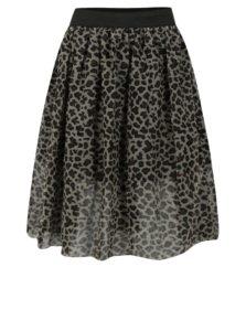 Kaki dievčenská tylová sukňa s leopardím vzorom name it Reo