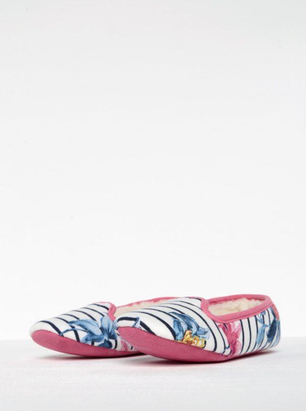 Ružovo-krémové pruhované papuče Tom Joule Dreama