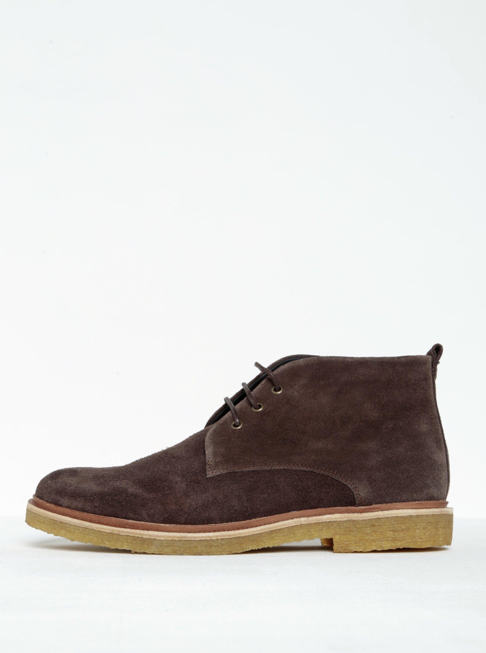 78094f15ef2e0 Tmavohnedé pánske členkové semišové topánky Royal RepubliQ | Moda.sk