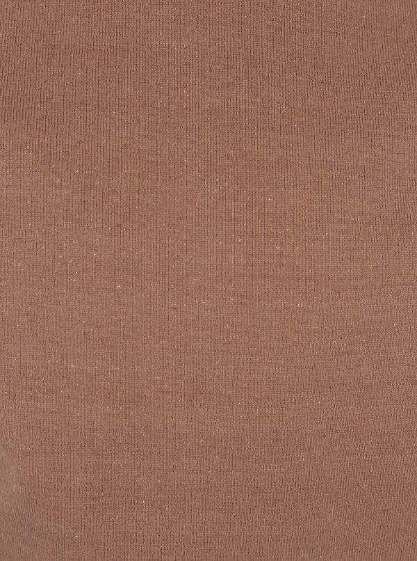 Hnedá trblietavá dievčenská mikina small rags Freya