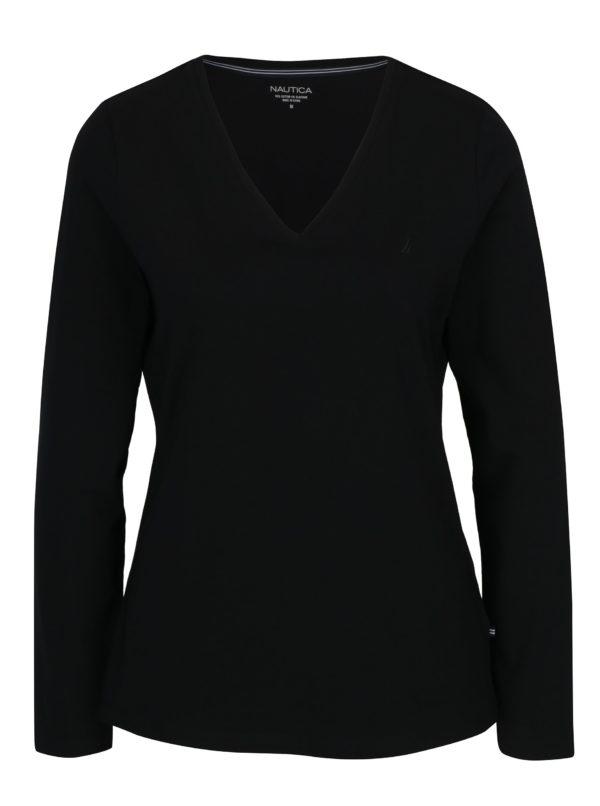 Čierne dámske tričko s dlhým rukávom Nautica