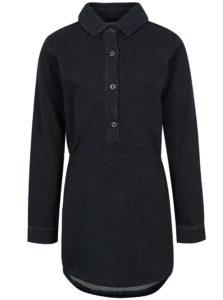 Tmavomodrá dievčenská tunika s dlhým rukávom small rags Freya