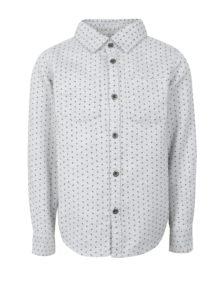 Svetlosivá chlapčenská vzorovaná košeľa small rags Fabian