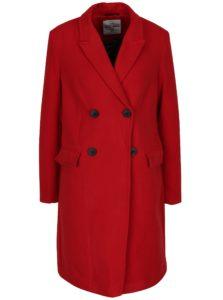 Červený kabát so zapínaním na gombíky TALLY WEiJL