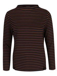 Modro-hnedé pruhované tričko s dlhým rukávom Gina Laura