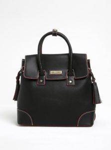bf37d233d6 Čierny koženkový batoh s červenými detailmi Gionni Solaine