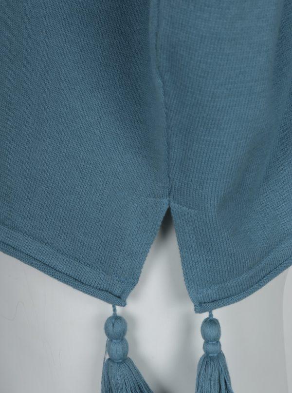 Modrý oversize sveter so strapcami Ulla Popken