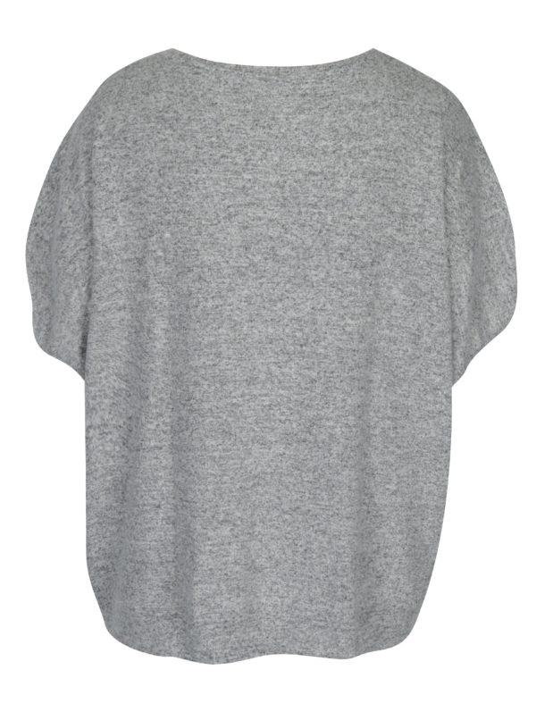Sivý melírovaný oversize sveter Ulla Popken