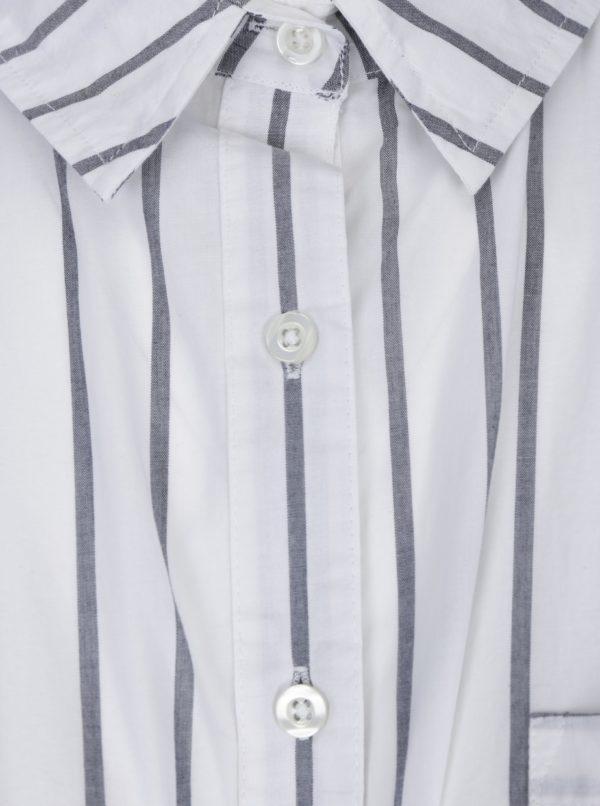 Biela pruhovaná košeľa Ulla Popken
