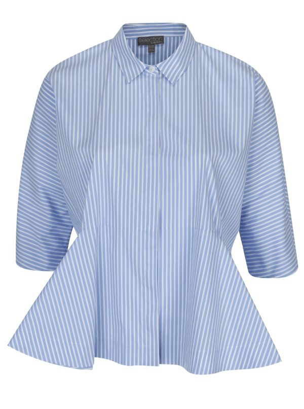 Bielo-modrá pruhovaná košeľa Ulla Popken