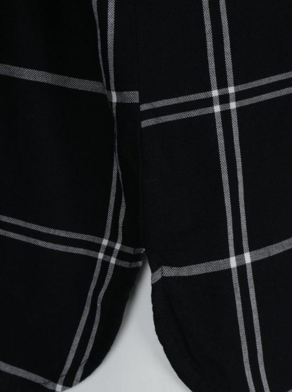 Bielo-čierna károvaná košeľa bez goliera Ulla Popken