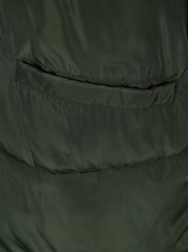 Zelený prešívaný kabát s kapucňou Jacqueline de Yong Rocca