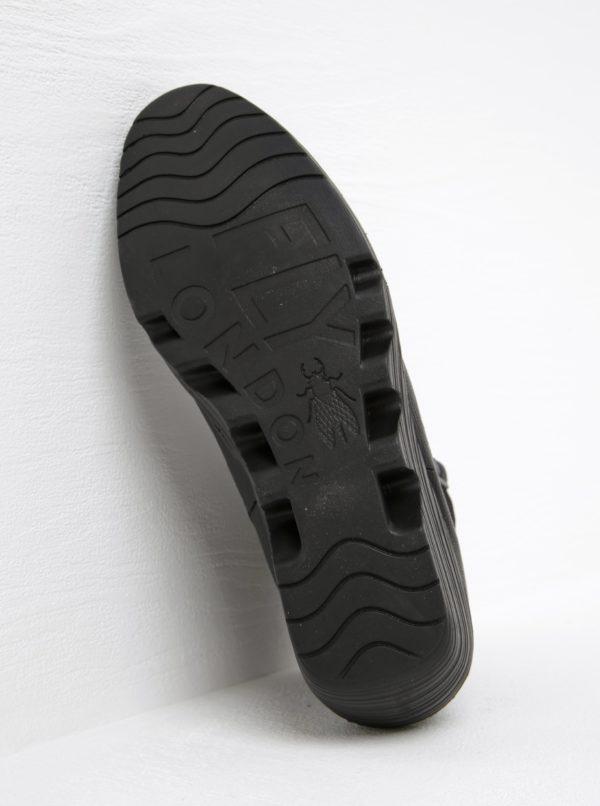 bb294b7bc293 Čierne dámske kožené chelsea topánky na platforme FLY London