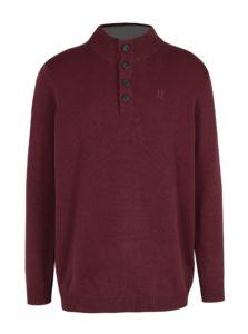 Vínový sveter s gombíkmi JP 1880