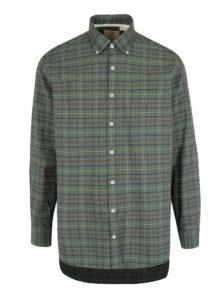 Zelená kockovaná comfort fit košeľa JP 1880
