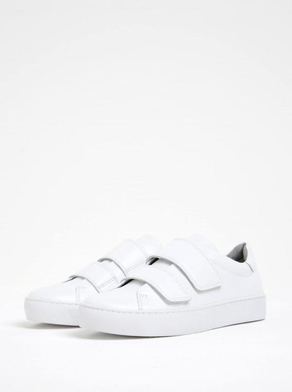 Biele dámske kožené tenisky na suchý zips Vagabond Zoe  1161201fa83