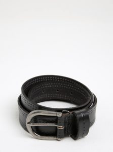 Čierny kožený opasok so sponou Pieces Johanne