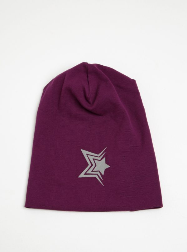 Fialová dievčenská čiapka s potlačou name it Moppy