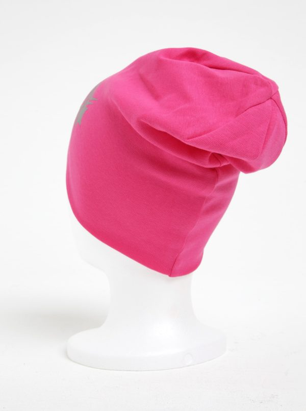 Ružová dievčenská čiapka s potlačou name it Moppy